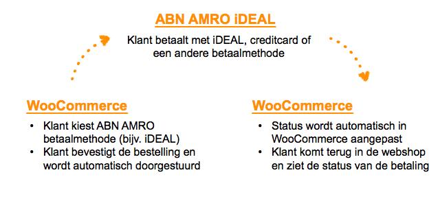 Te doorlopen stappen bij betalingen via ABN AMRO iDEAL