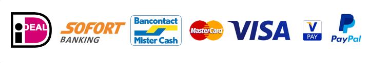 iDEAL, MasterCard, Visa, Bancontact voor WooCommerce