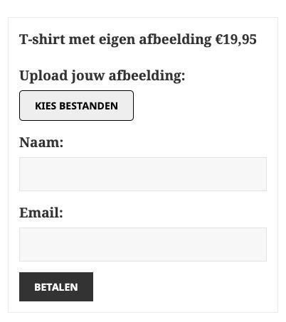 Betaald bestanden uploaden